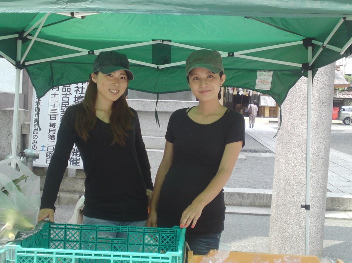 静岡市で静岡県産野菜マーケット:大喜農園ののんちゃんとナナちゃん!