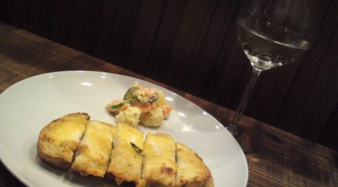 ワイン&酒バー:La Sommeliere・ラ ソムリエルでCroque-Monsieur/クロックムッシュと三和酒造純米吟醸ひやおろし・静岡市!