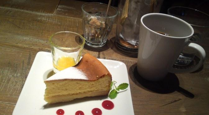 アメリカ料理のデザート:New York Baked Cheese Cake・BLUE BOOKS CAFE・静岡市!