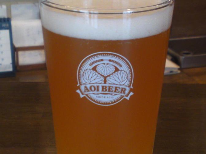 静岡県産地ビール:Aoi Brewing-清水はるみみかんエール!