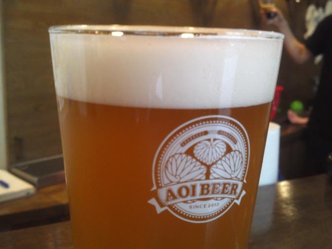 静岡県産地ビール:Aoi Brewing-Honnori Ocha Ale・ほんのりお茶エール(2番目のバッチ)