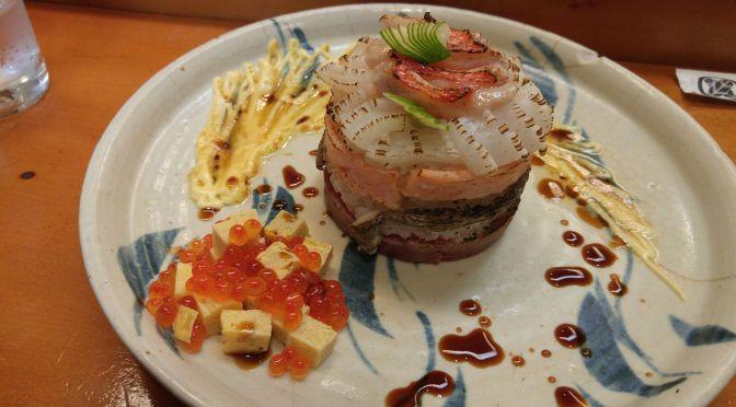 寿司デザイン:静岡市・すし幸・尾留川健太さんの寿司ミルフィーユ炙り