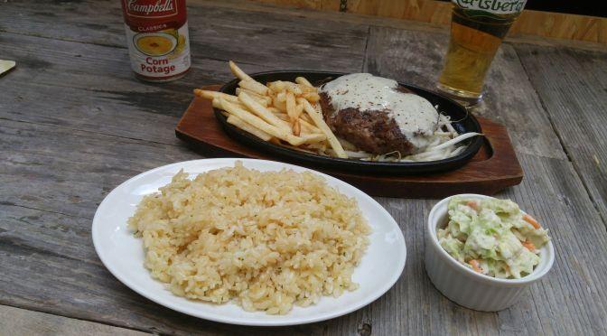 アメリカ料理:Tequila's DinerのHamburg Steak・ハンバーグ ステーキ・静岡市!