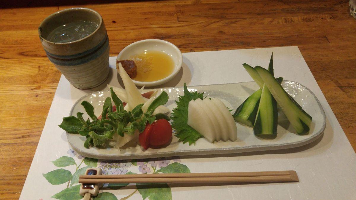 野菜刺身盛り合わせーやさい亭・静岡市